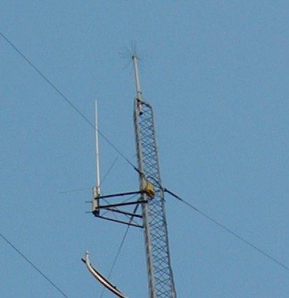 The repeater antenna is on the